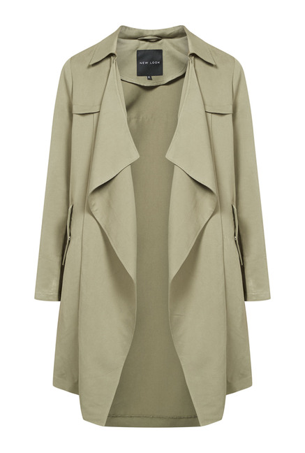 4a1b52f57 Buy New Look Olive Waterfall Duster Coat Online at best price at ...