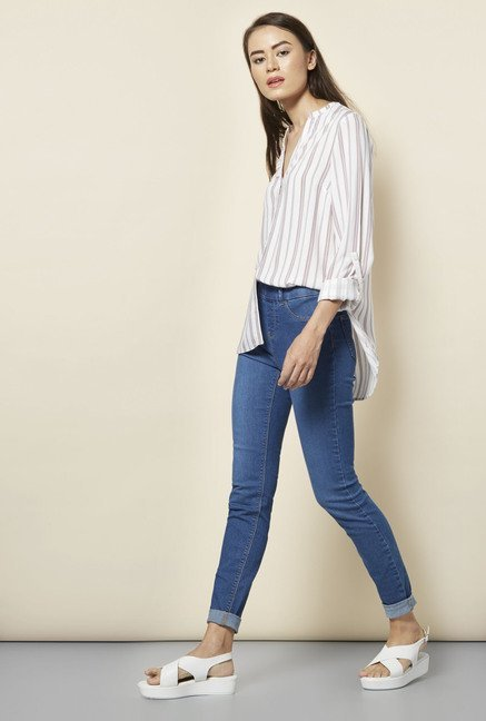 New Look Blue Skin Fit Jeggings