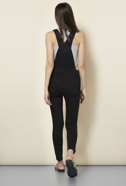 New Look Black Ankle Grazer Dungarees