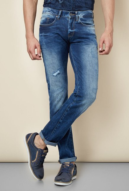 celio* Blue Distressed Jeans