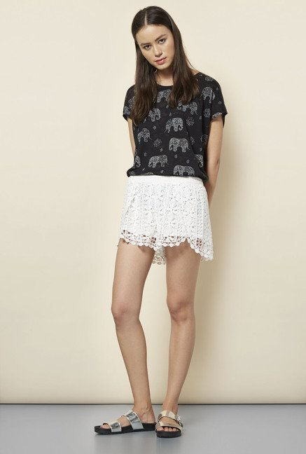 New Look White Crochet Wrap Shorts