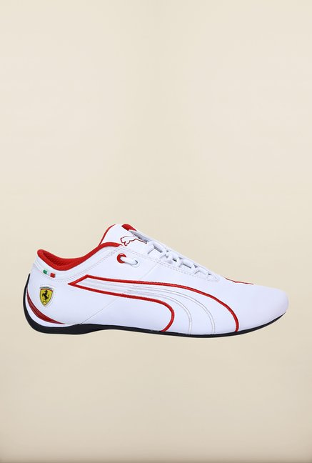 Puma Ferrari White Running Shoes