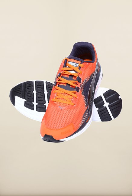 Puma Faas Vermillion Orange Running Shoes