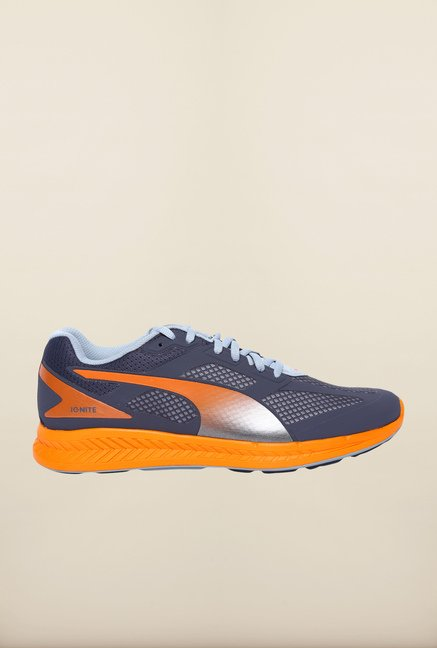 Puma Ignite Grey & Orange Running Shoes