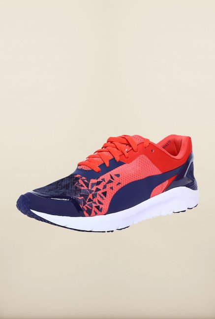 Puma Pulse XT Navy & Red Coral Running Shoes