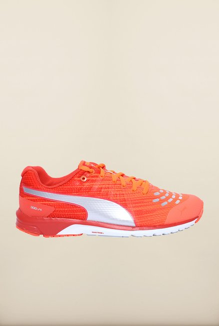 Puma Faas 300 V4 Fiery Coral Cayenne Running Shoes