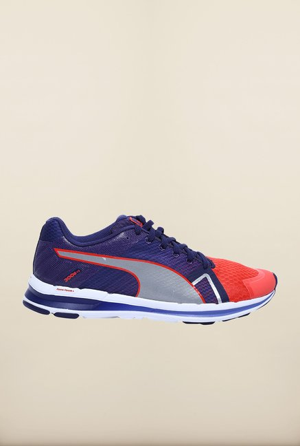 Puma Faas 300 S V2 Corel Red & Navy Running Shoes