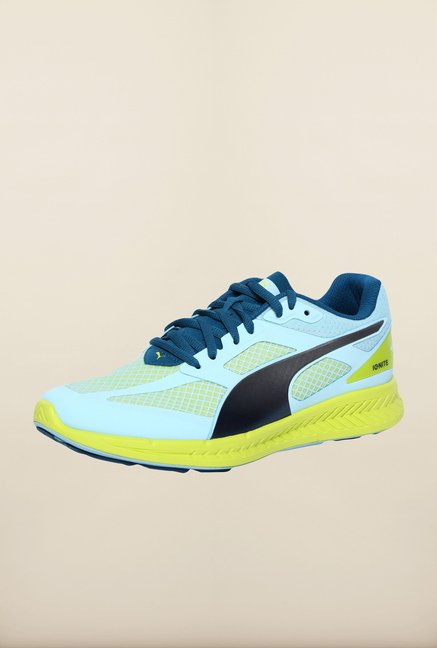Puma Ignite Aqua Blue & Sulphur Running Shoes