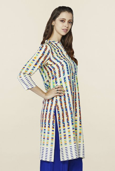 Global Desi Multicolor Printed Pandora Kurti