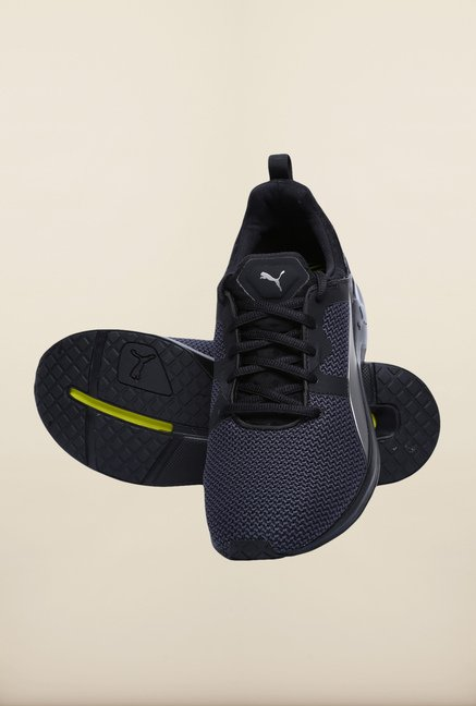 Puma Pulse XT Black & Silver Training Shoes