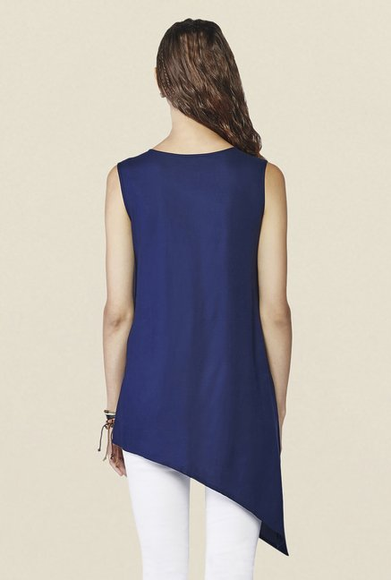 Global Desi Navy Solid Binx Top