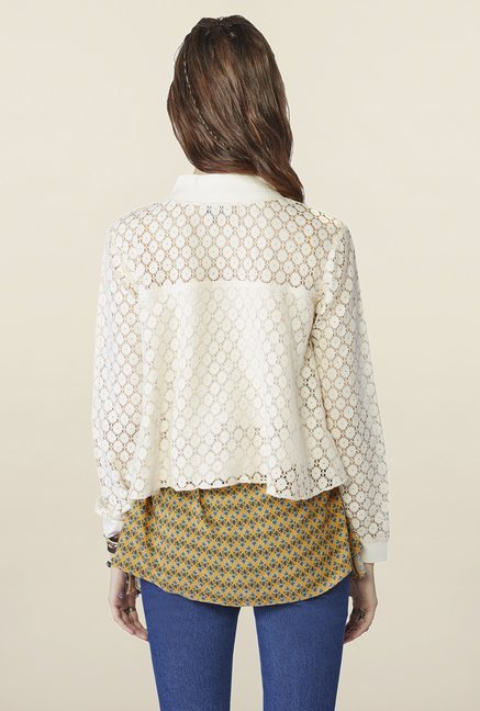 Global Desi Cream Lace Ailey Jacket