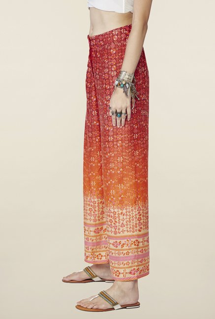 Global Desi Red Printed Demelza Palazzo
