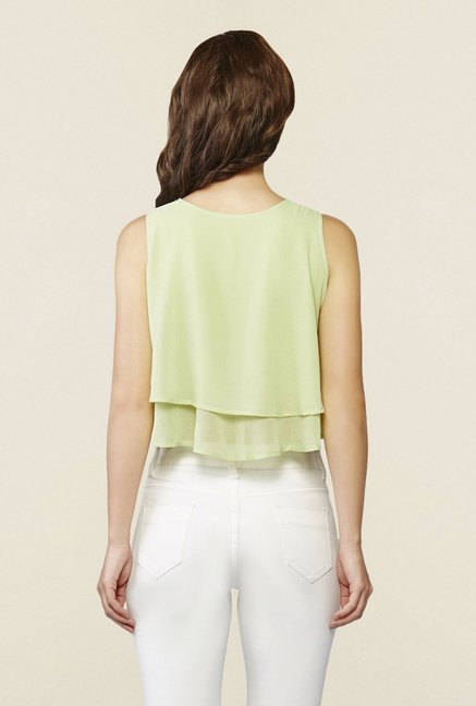 AND Green Layered Crop Top