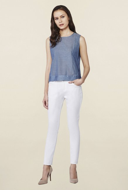 AND Blue Solid Avril Top
