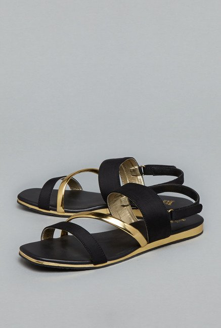 Head Over Heels Black Back Strap Sandals