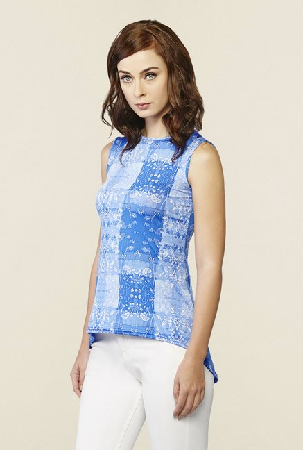 AND Blue Noah Floral Print Knit Top