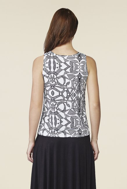 AND White Ardel Printed Sleeveless Top