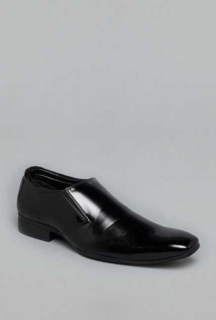 Azzurro Black Slip-On Formal Shoes