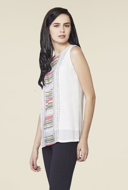 AND Cream Gia Printed Top