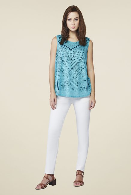 AND Aqua Blue Beth Casual Top