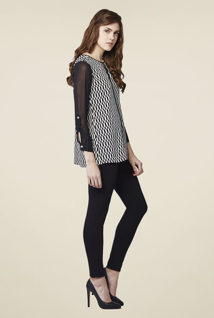 AND Black & White Eliza Printed Top