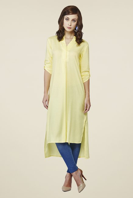 AND Yellow Canary Hi-Low Tunic