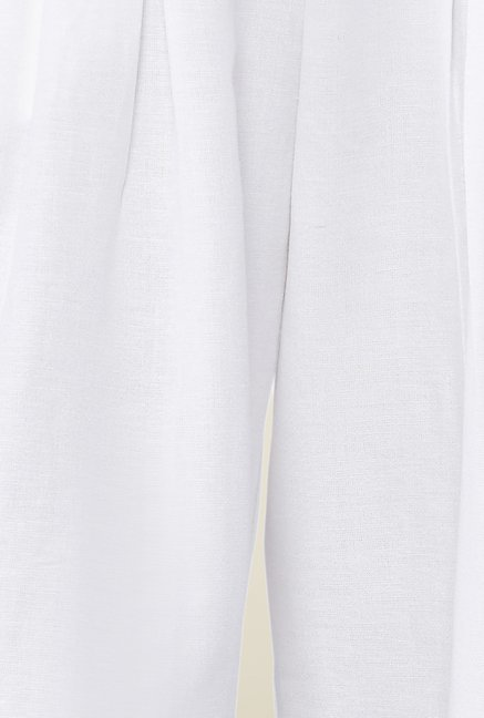 AND White Gabriela Pleated Culottes