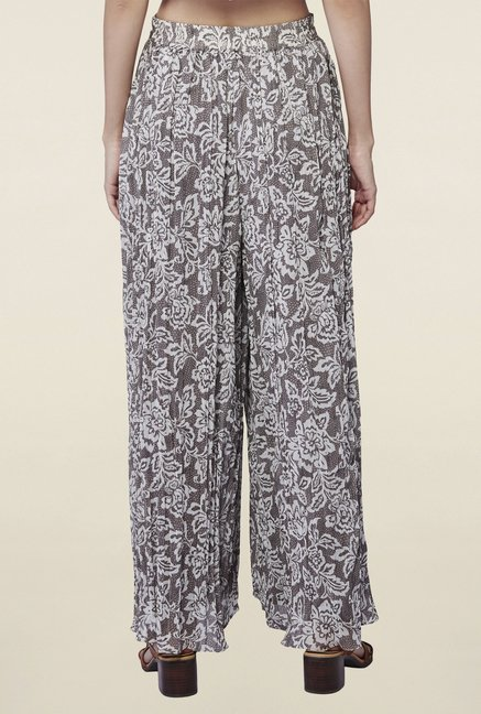 AND Grey Dina Printed Palazzos