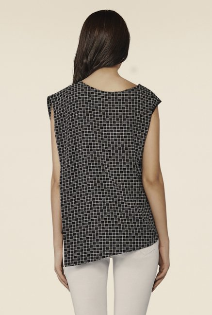 AND Black Alissa Dice Printed Top