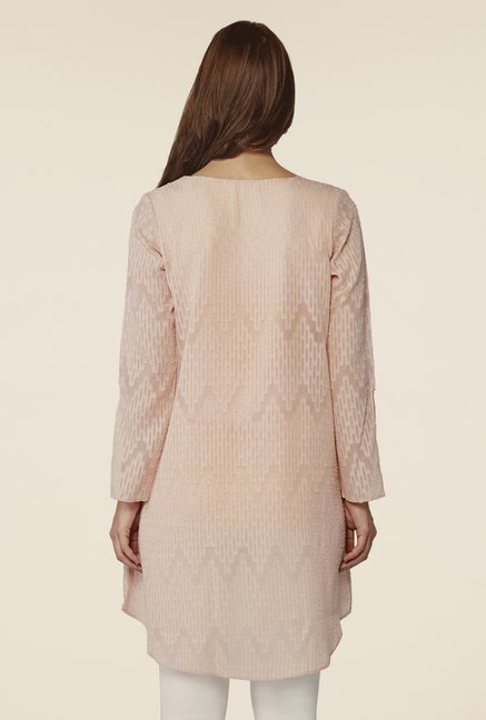 AND Rose Pink Blush Textured Top