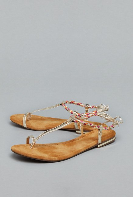 Head Over Heels Gold Thong Sandals