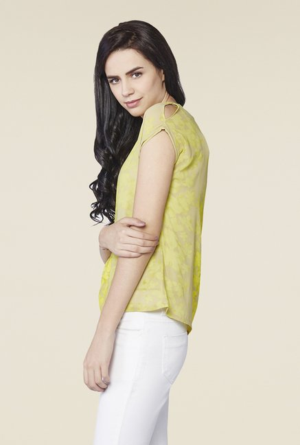 AND Lime Lynn Printed Top