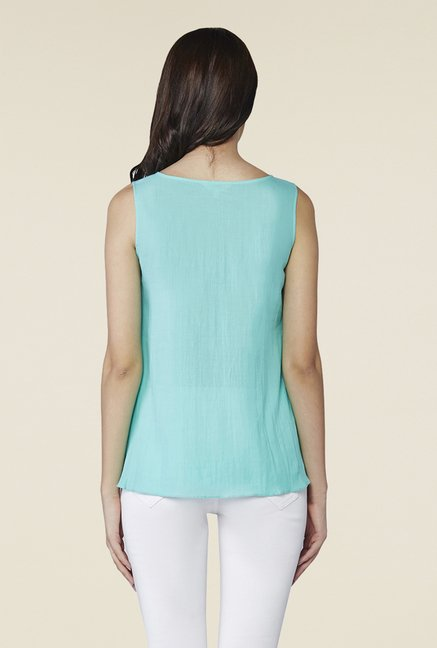 AND Aqua Blue Bella Layered Top