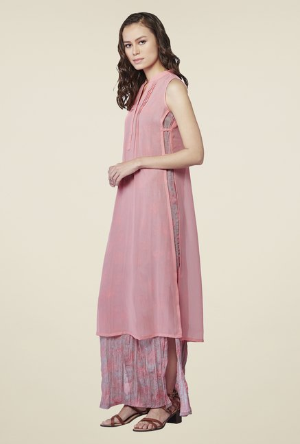 AND Pink Printed Long Tunic