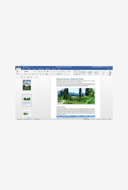 Microsoft Office Home & Business 2016 for Mac with One Drive