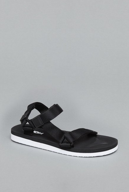 Nuon Black Back Strap Sandals