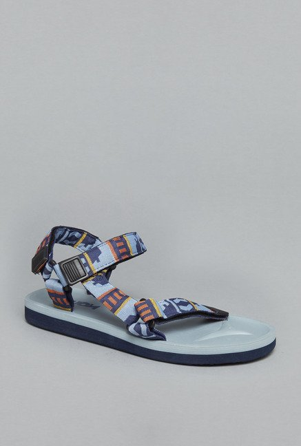 Nuon Blue Back Strap Sandals