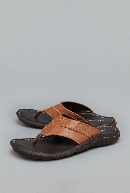 David Jones Tan Slide Sandals