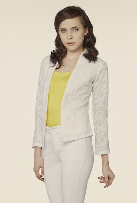 AND White Open Front Jacket