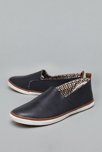 Nuon Navy Slip-On Shoes