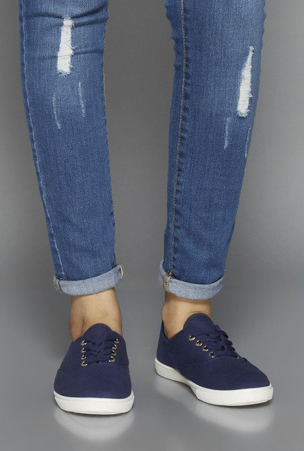 Head Over Heels Navy Canvas Shoes