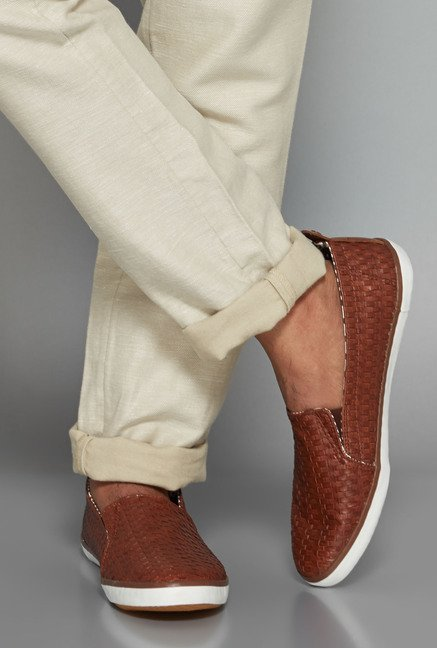 ETA Tan Slip-On Shoes