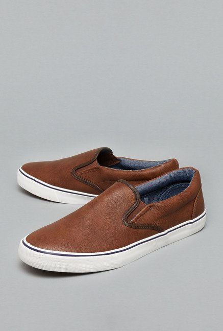 Nuon Tan Slip-On Shoes