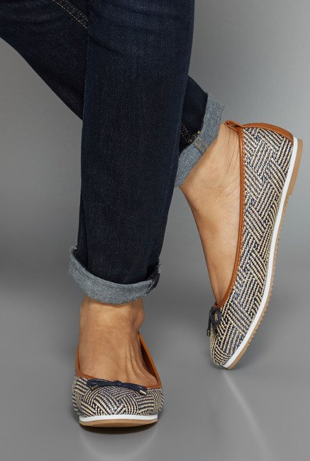 Head Over Heels Navy Ballerina Flat Shoes