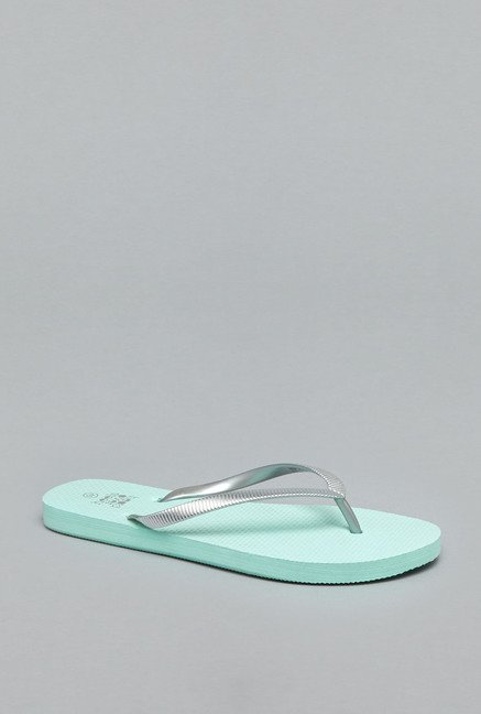 Head Over Heels Mint Thong Flip Flops
