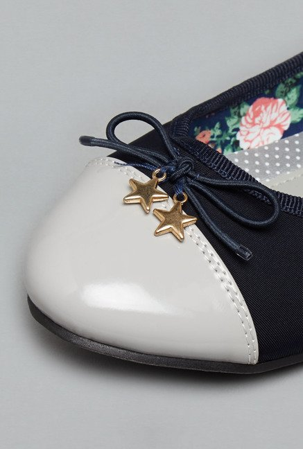 Head Over Heels Navy Ballerina Shoes