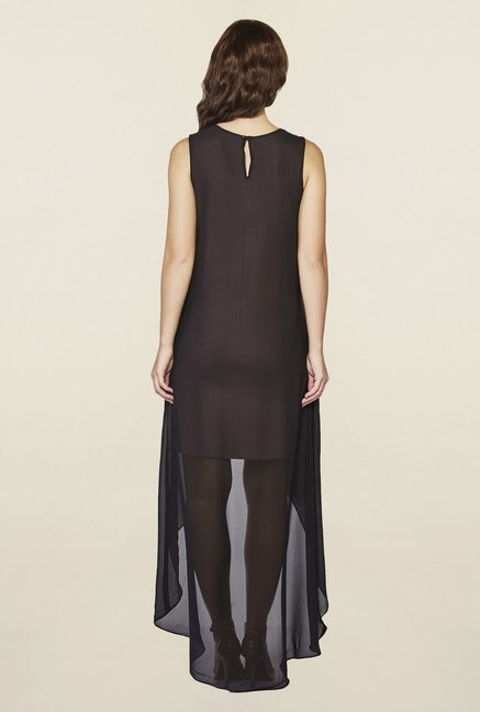 AND Black Farrin Embroidered Layered Dress