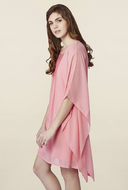AND Pink Rose Blush Asymmetric Dress