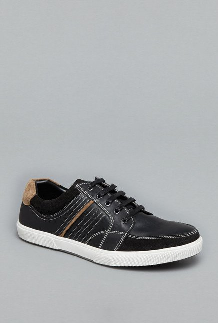 Azzurro Black Lace Up Sneakers